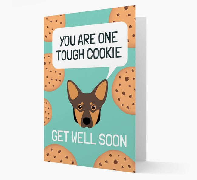 'You are one tough Cookie' Get Well Soon Card with Lancashire Heeler Icon