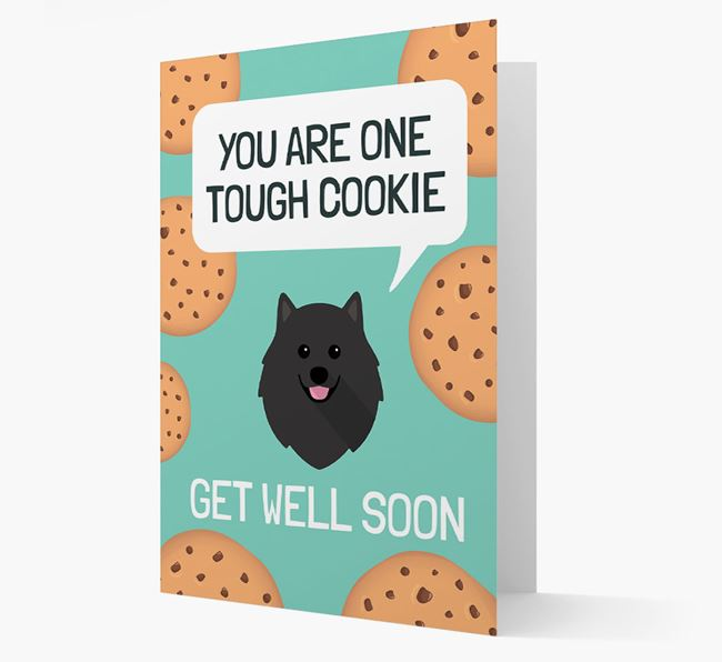 'You are one tough Cookie' Get Well Soon Card with Pomeranian Icon