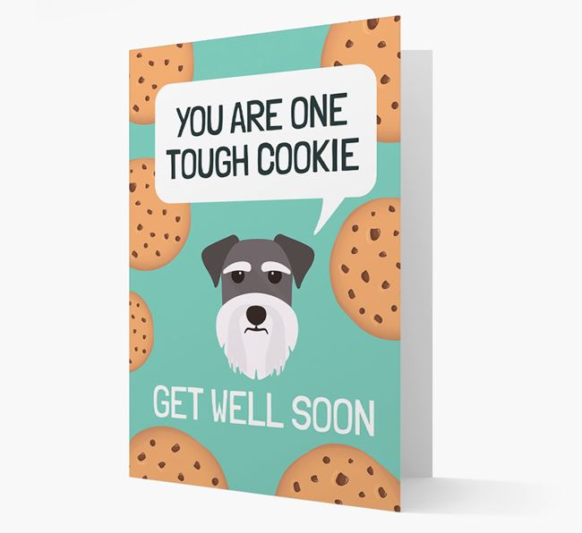 'You are one tough Cookie' Get Well Soon Card with Dog Icon