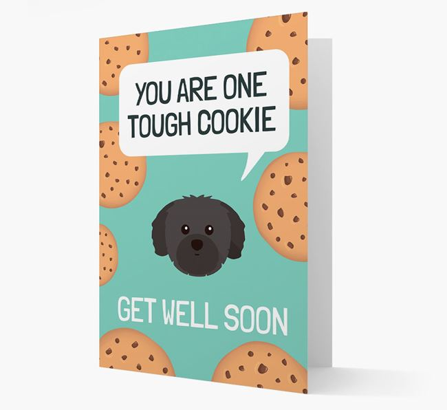 'You are one tough Cookie' Get Well Soon Card with Shih Tzu Icon