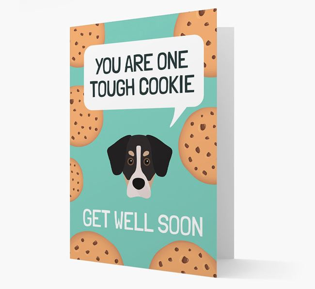 'You are one tough Cookie' Get Well Soon Card with Siberian Cocker Icon