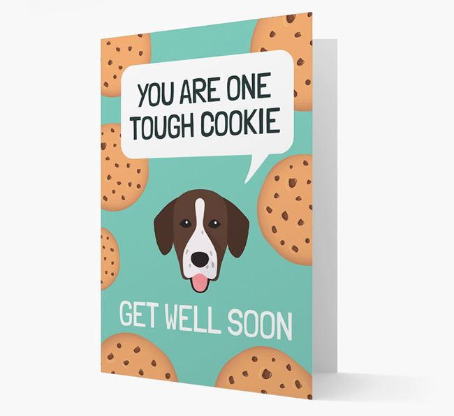 'You are one tough Cookie' Get Well Soon Card with Springador Icon