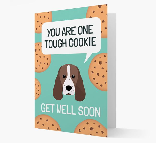 'You are one tough Cookie' Get Well Soon Card with Sprocker Icon