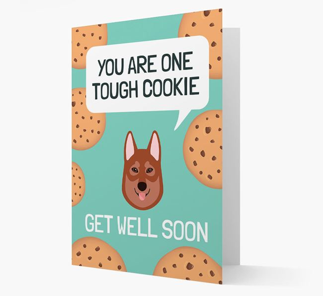 'You are one tough Cookie' Get Well Soon Card with Tamaskan Icon