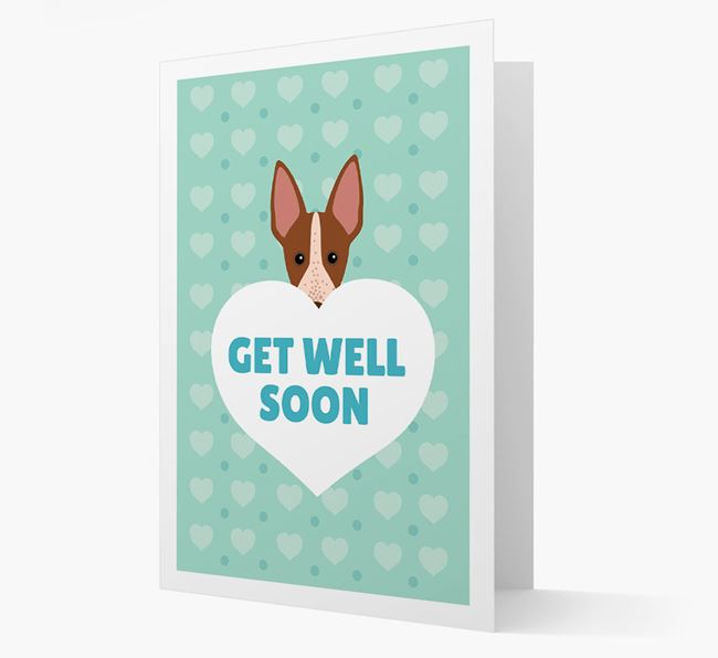 'Get Well Soon' Card with American Hairless Terrier Icon