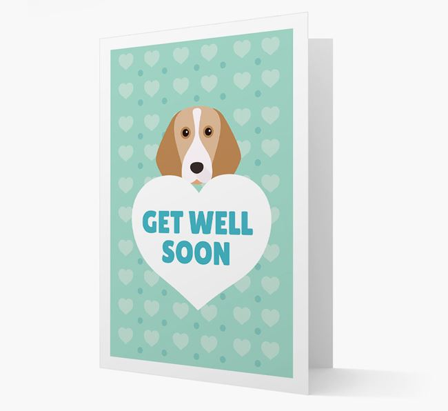'Get Well Soon' Card with Beagle Icon