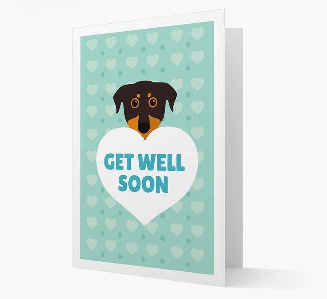 'Get Well Soon' Card with Beauceron Icon
