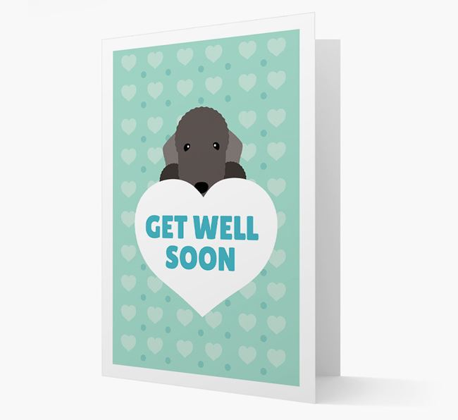 'Get Well Soon' Card with Bedlington Terrier Icon