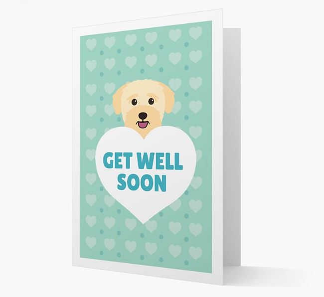 'Get Well Soon' Card with Bichon Yorkie Icon