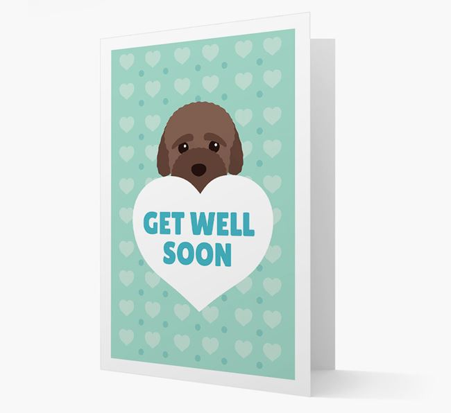 'Get Well Soon' Card with Bich-poo Icon