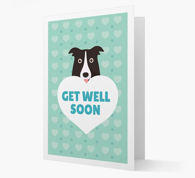 'Get Well Soon' Card with Border Collie Icon