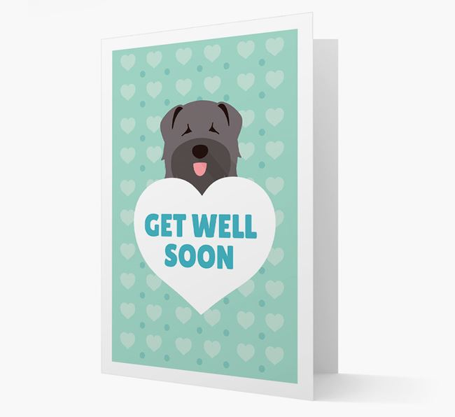 'Get Well Soon' Card with Bouvier Des Flandres Icon