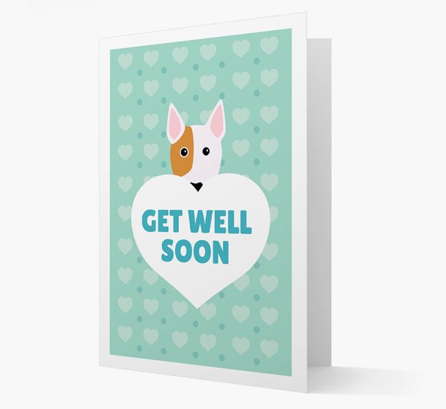'Get Well Soon' Card with Bull Terrier Icon