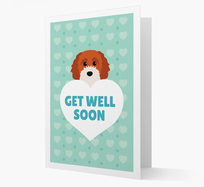 'Get Well Soon' Card with Cavapoochon Icon