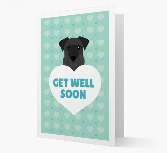 'Get Well Soon' Card with Cesky Terrier Icon