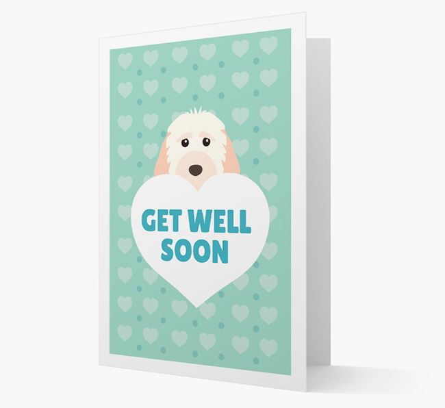 'Get Well Soon' Card with Cockapoo Icon