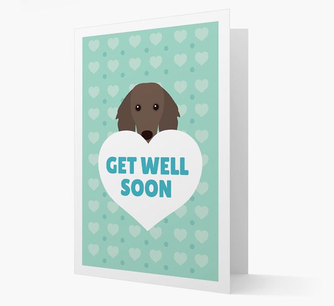 'Get Well Soon' Card with Dachshund Icon