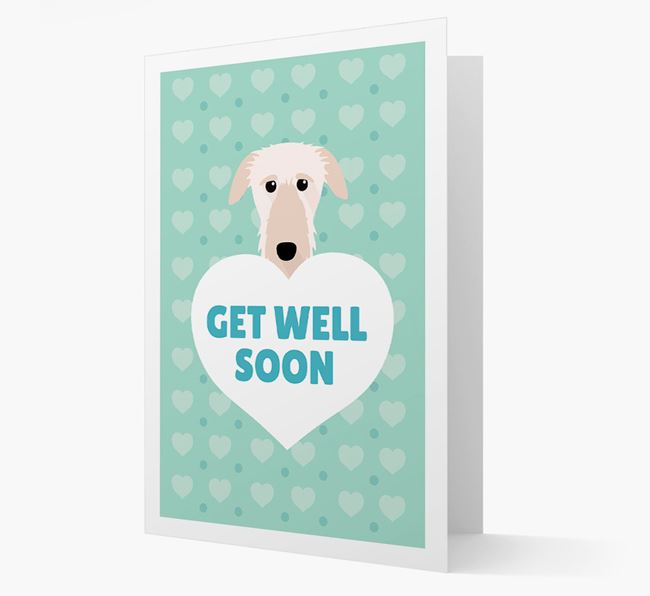 'Get Well Soon' Card with Deerhound Icon