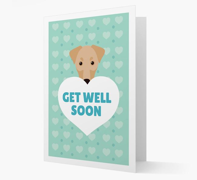 'Get Well Soon' Card with Dobermann Icon