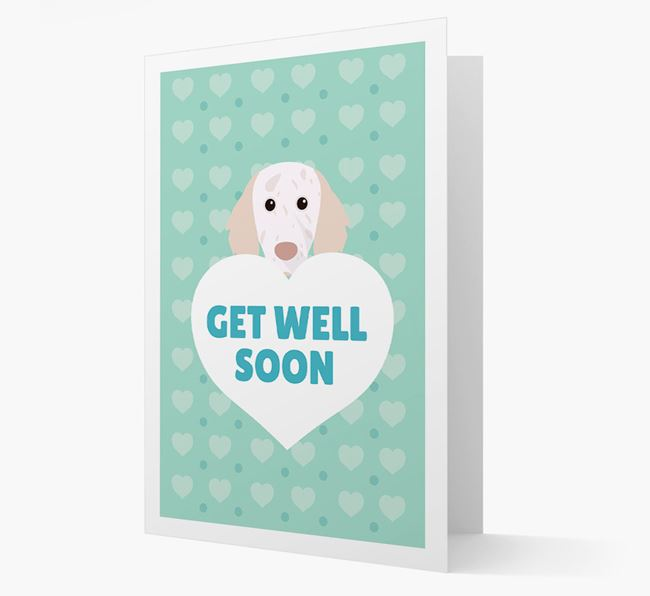 'Get Well Soon' Card with English Setter Icon