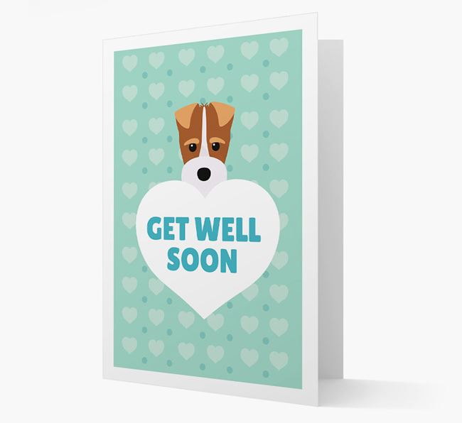 'Get Well Soon' Card with Fox Terrier Icon