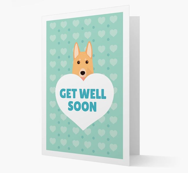 'Get Well Soon' Card with German Shepherd Icon