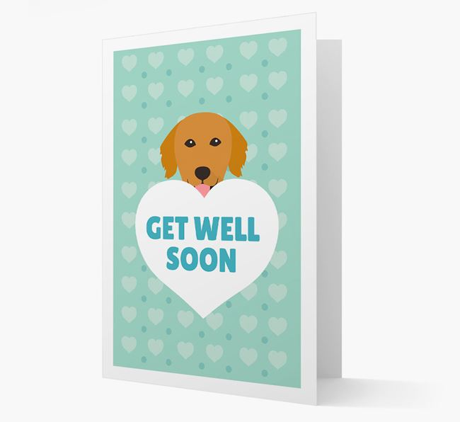 'Get Well Soon' Card with Golden Retriever Icon