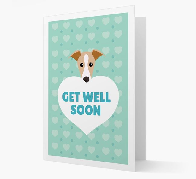 'Get Well Soon' Card with Dog Icon