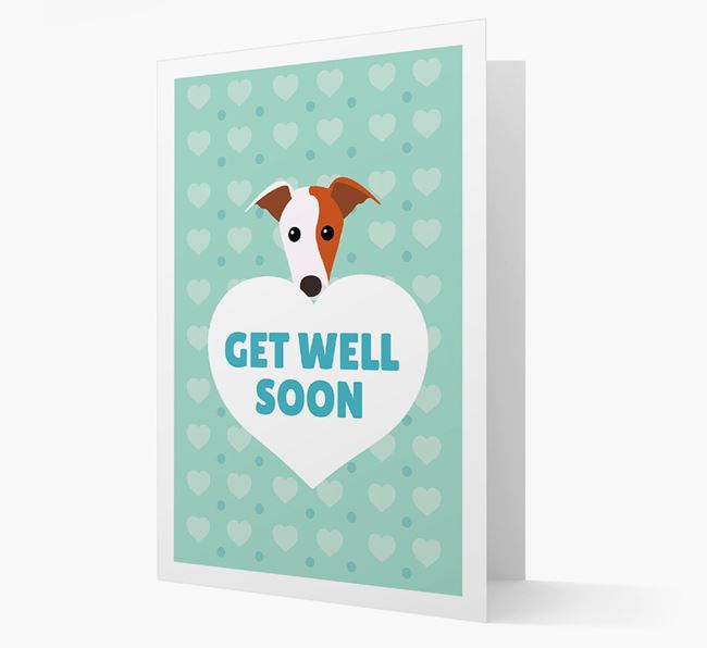 'Get Well Soon' Card with Greyhound Icon