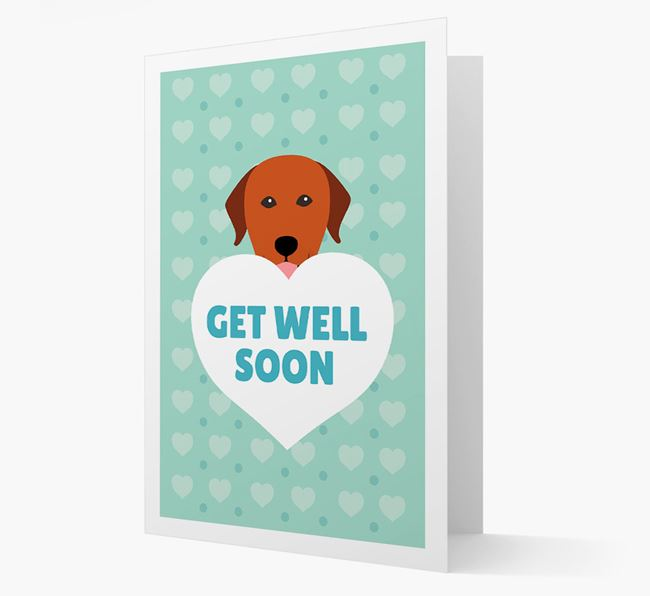 'Get Well Soon' Card with Labrador Retriever Icon