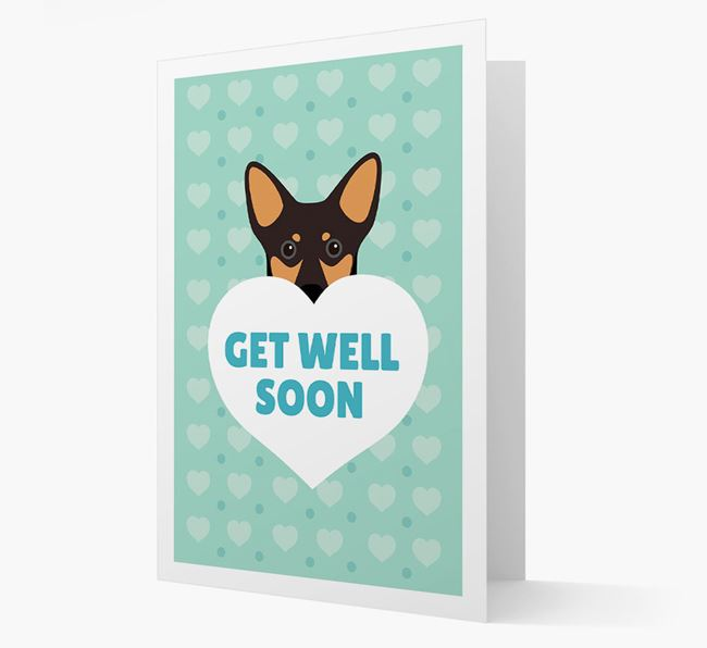 'Get Well Soon' Card with Lancashire Heeler Icon