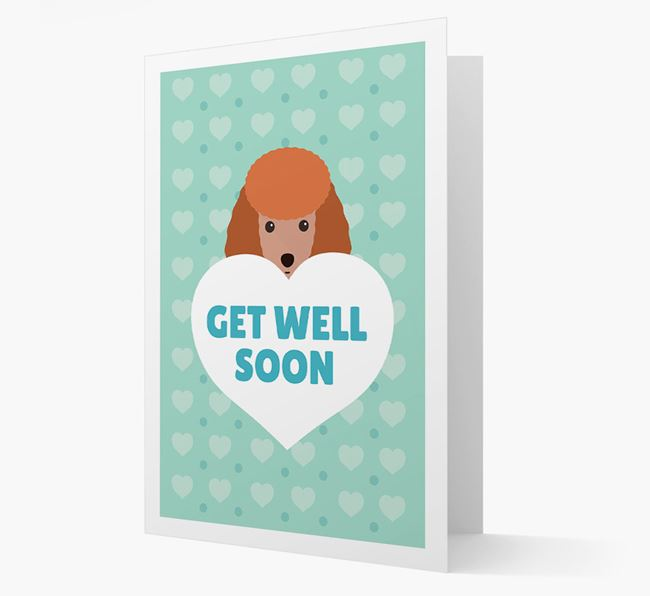 'Get Well Soon' Card with Miniature Poodle Icon