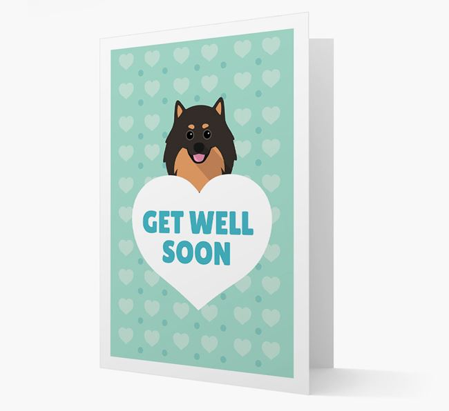 'Get Well Soon' Card with Pomeranian Icon