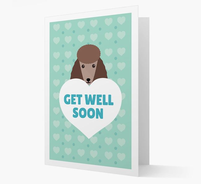 'Get Well Soon' Card with Poodle Icon