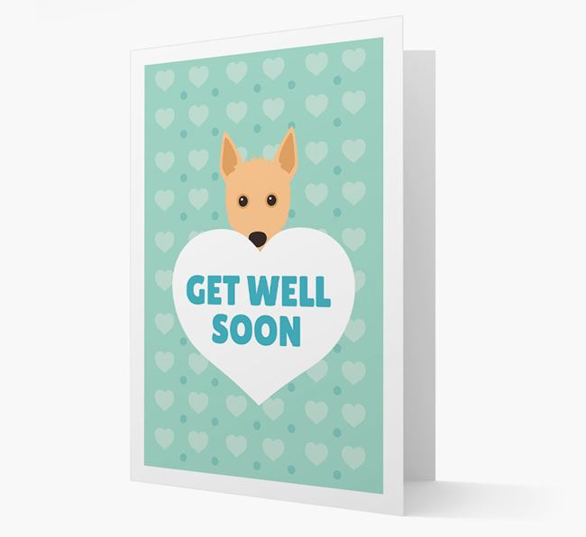 'Get Well Soon' Card with Portuguese Podengo Icon