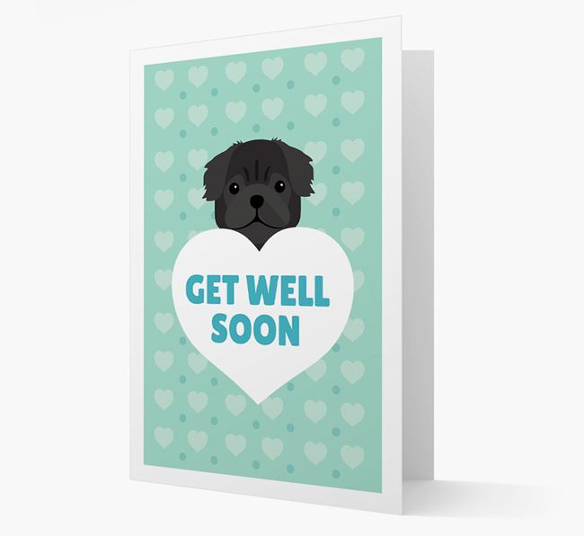 'Get Well Soon' Card with Pug Icon