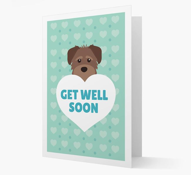 'Get Well Soon' Card with Schnoodle Icon