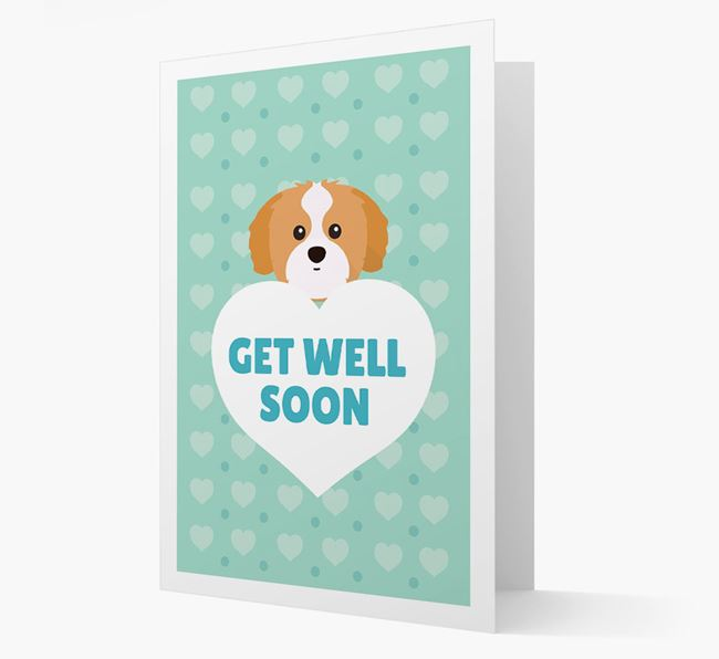 'Get Well Soon' Card with Shih Tzu Icon