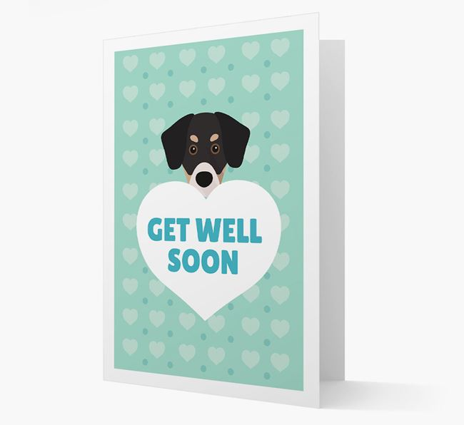 'Get Well Soon' Card with Siberian Cocker Icon