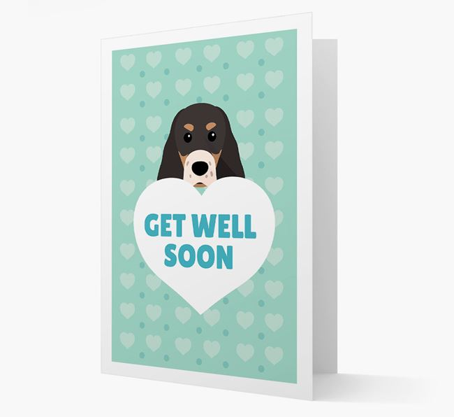 'Get Well Soon' Card with Sprocker Icon