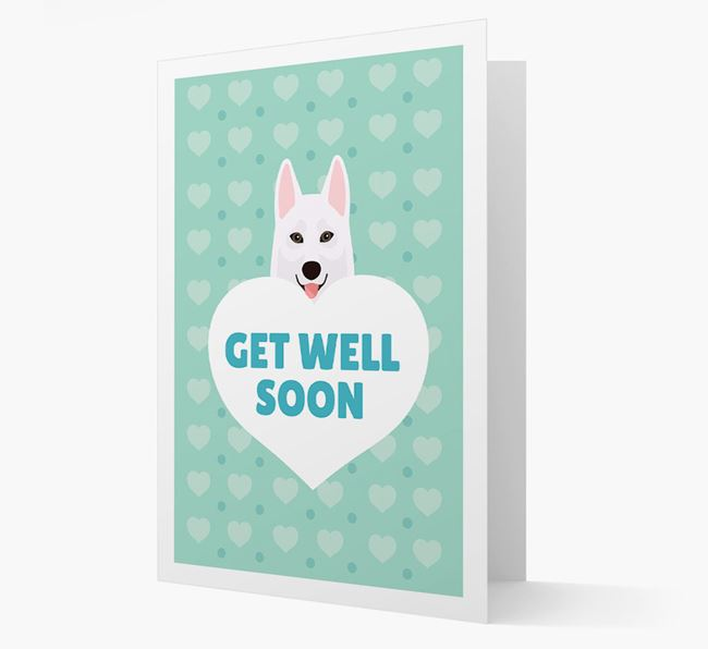 'Get Well Soon' Card with Tamaskan Icon