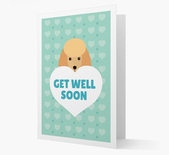 'Get Well Soon' Card with Toy Poodle Icon