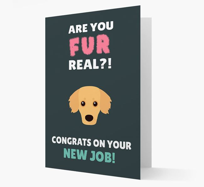 'Are you for real?! Congrats on your new job!' Card with Kokoni Icon