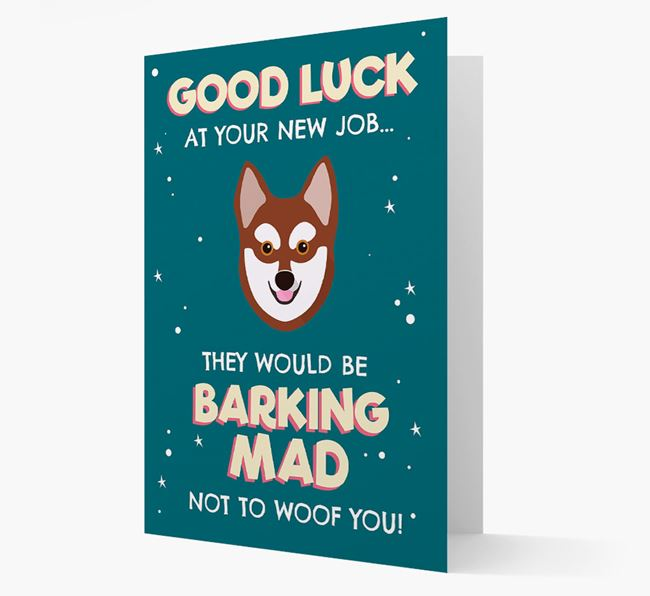 'Good Luck at your New Job!' Card with Alaskan Klee Kai Icon