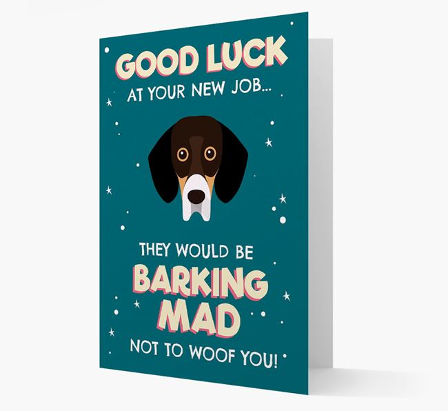 'Good Luck at your New Job!' Card with Bassador Icon