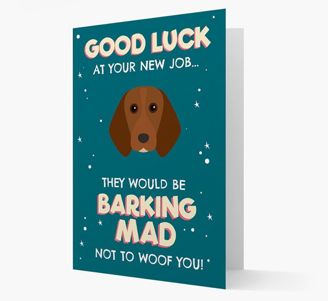'Good Luck at your New Job!' Card with Beagle Icon