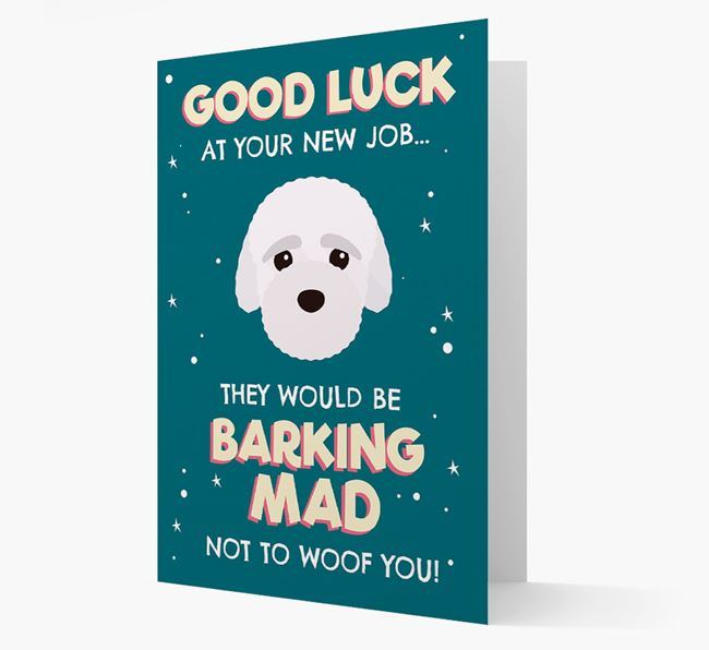 'Good Luck at your New Job!' Card with Bich-poo Icon