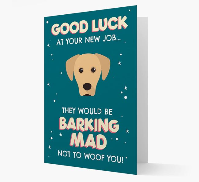 'Good Luck at your New Job!' Card with Blue Lacy Icon