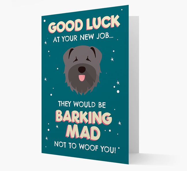 'Good Luck at your New Job!' Card with Bouvier Des Flandres Icon