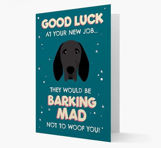 'Good Luck at your New Job!' Card with Braque D'Auvergne Icon